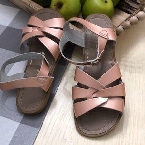 Salt Water Sandals Bronze size 7